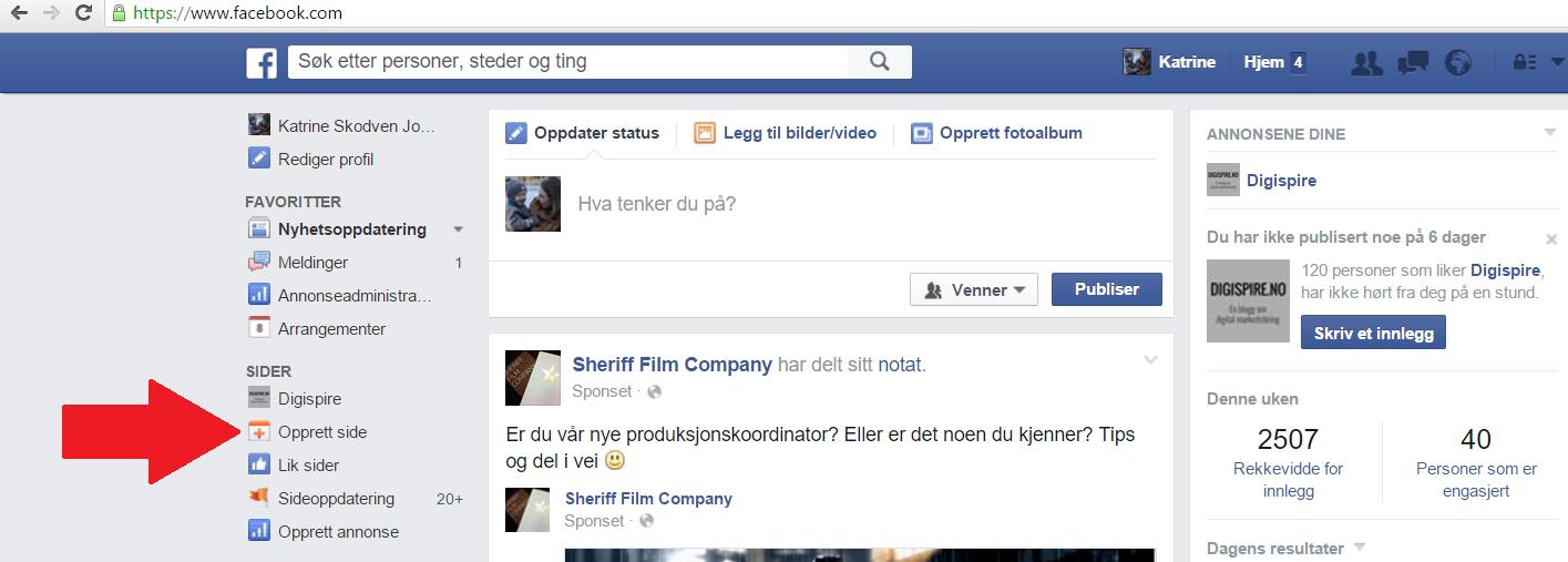 endre språk på facebook